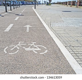 bicycle lane in the city