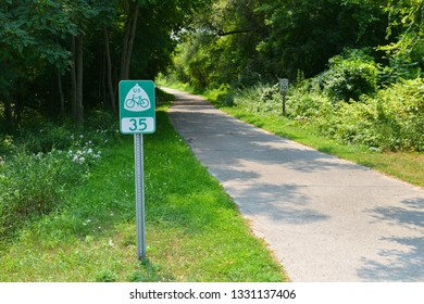 bicycle lane in the forest