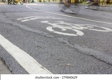 Bicycle lane in a park