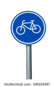 Bicycle Lane Sign in isolation