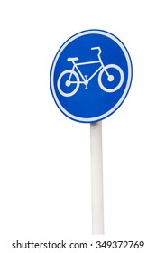 Bicycle lane sign on isolate on white background