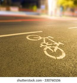 Bicycle lanes night