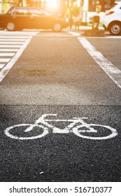 Bicycle Lanes on city street