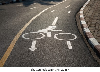 Bicycle Lanes in the rays of the setting sun