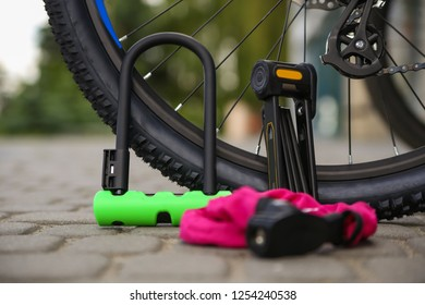 Bicycle locks. Bicycle U- lock