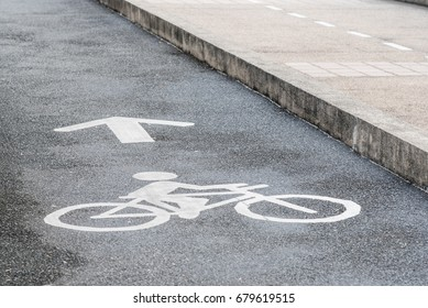 bicycle logo on bicycle lane in the park
