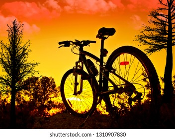 bicycle in the mountain