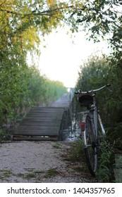 Bicycle near Balaton lake pier