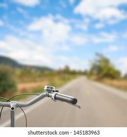 bicycle on an asphalt road