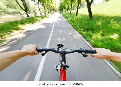 bicycle on a road