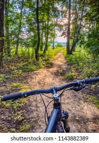 bicycle on the trail in the summer season