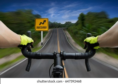 Bicycle on the way to success.