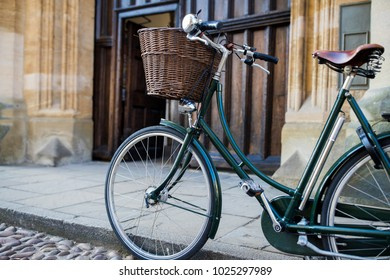 Bicycle Outside Oxford University College Building