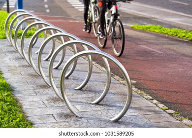 bicycle  parking in bike path