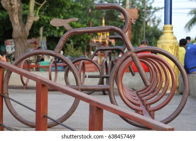 Bicycle parking sign.