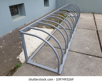 bicycle parking system empty and unattended