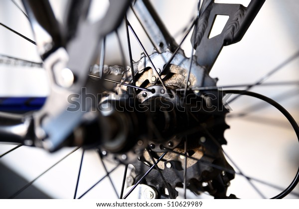 Bicycle Parts Narrow Depth Field Selective Stock Photo (Edit Now
