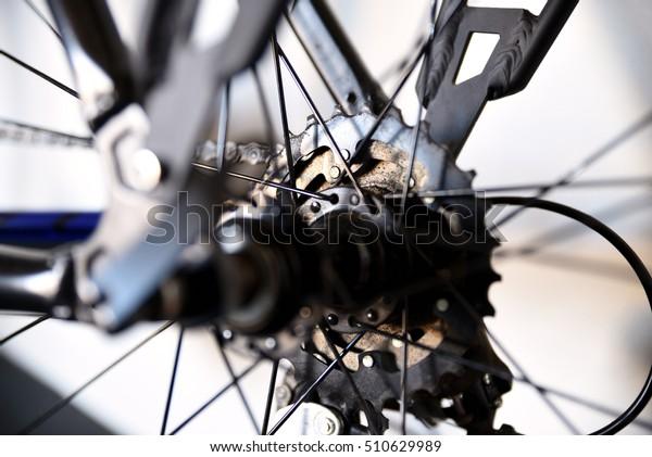 Bicycle Parts Narrow Depth Field Selective Stock Photo (Edit