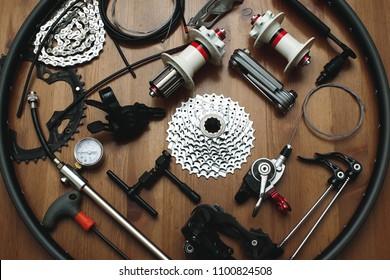 Bicycle parts and repair tools