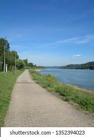 bicycle Path along Rhine River,Rhineland-Palatinate,Germany