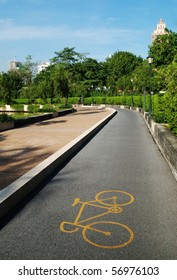 A bicycle path in Benjakitti Park