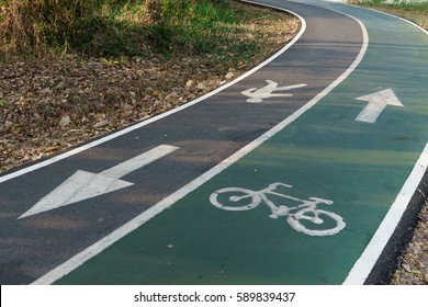 Bicycle path and The corridor for Runner in the park
