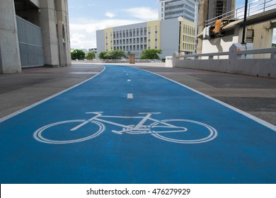 bicycle path for cycling bicycle and exercise