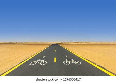 Bicycle Path in Dubai, UAE