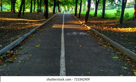 bicycle path in the park