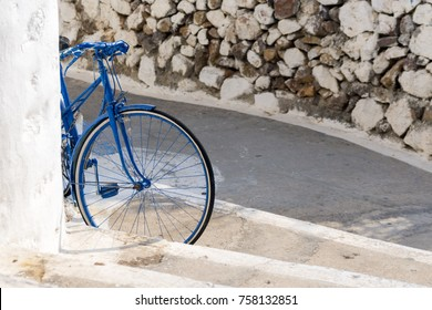 A bicycle in Patmos island, Dodecanese, Greece