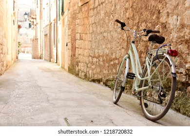 Bicycle in a Picturesque Alley - Vis, Croatia