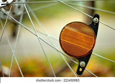 Bicycle Reflector in Autumn