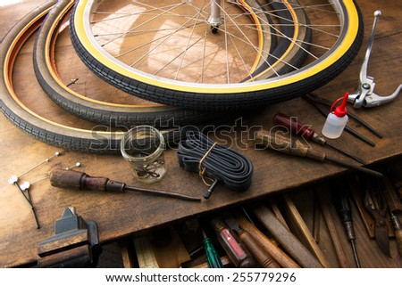 Bicycle Repair Repairing Changing Tire Tire Stock Photo Edit Now