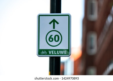 Bicycle Route 60 At Apeldoorn The Netherlands 2018