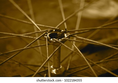 Bicycle sporks isolated object abstract stock photograph