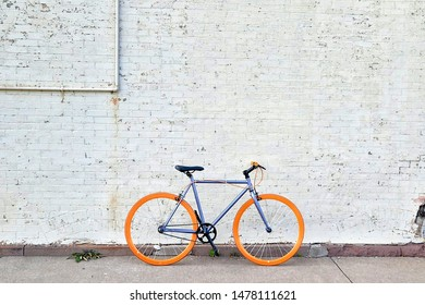 Bicycle standing in the road
