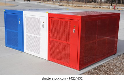 Bicycle Storage Lockers at Train Station