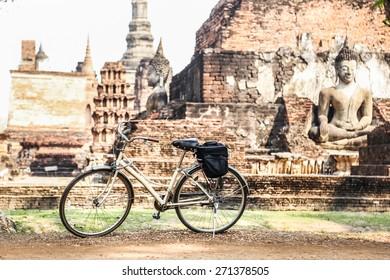 bicycle in Sukhothai Historical Park, Sukhothai Province, Thailand