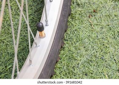 Bicycle tire valve cap.