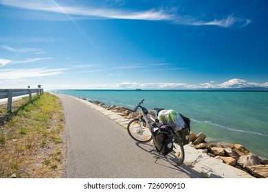 Bicycle travel by the sea