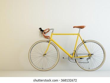 Bicycle Vintage Yellow