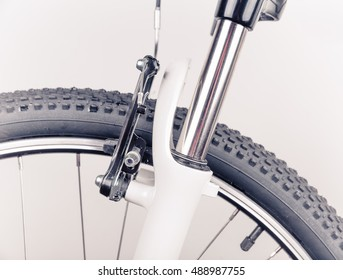 Bicycle wheel, close-up