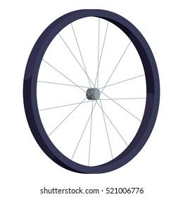 Bicycle wheel icon. Isometric illustration of bicycle wheel  icon for web design