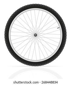 bicycle wheel illustration isolated on white background
