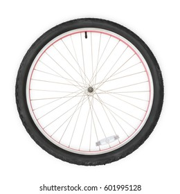 Bicycle wheel. Isolated on white, clipping path included