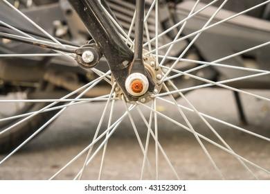 bicycle wheel - vintage effect filter