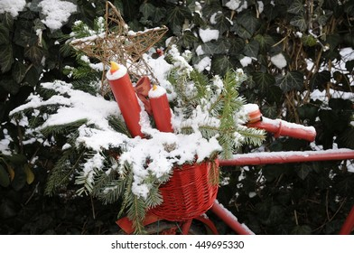 Bicycle with winter decoration
