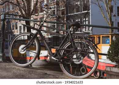 bicycles in the Amsterdam, Netherlands