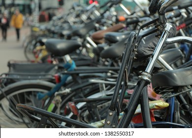 Bicycles in the beautiful Amsterdam