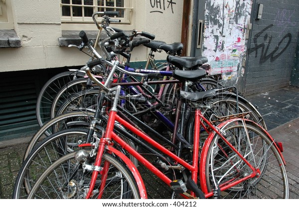 bicycles parked